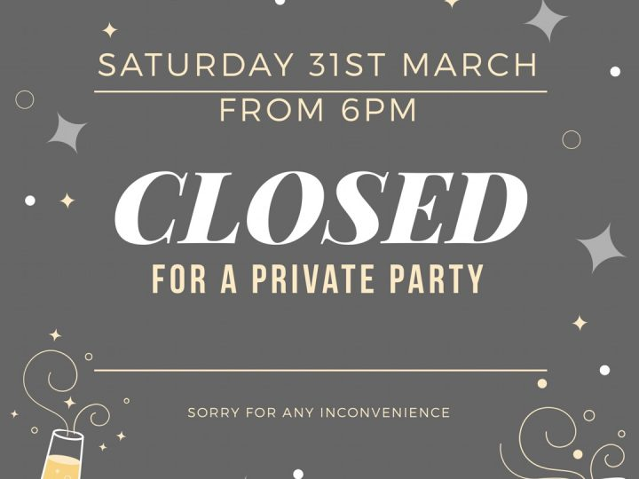Closed 31st March